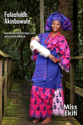 MBGN 2014 Miss Ekiti - Folashade Akinbowale Nigerian Traditional Outfit Loveweddingsng