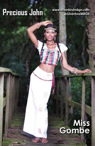 MBGN 2014 Miss Gombe - Precious John Nigerian Traditional Outfit Loveweddingsng