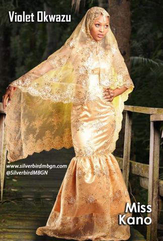 MBGN 2014 Miss Kano - Violet Okwazu Nigerian Traditional Outfit Loveweddingsng