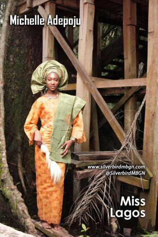 MBGN 2014 Miss Lagos - Michelle Adepoju Nigerian Traditional Outfit Loveweddingsng