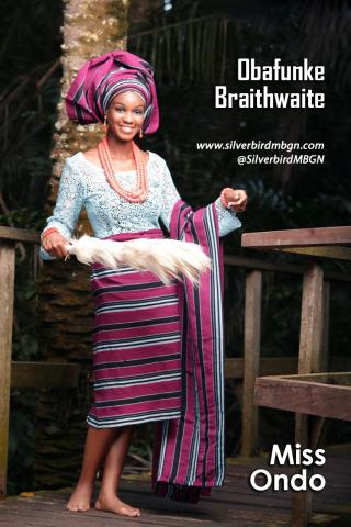 MBGN 2014 Miss Ondo - Obafunke Braithwaite Nigerian Traditional Outfit Loveweddingsng