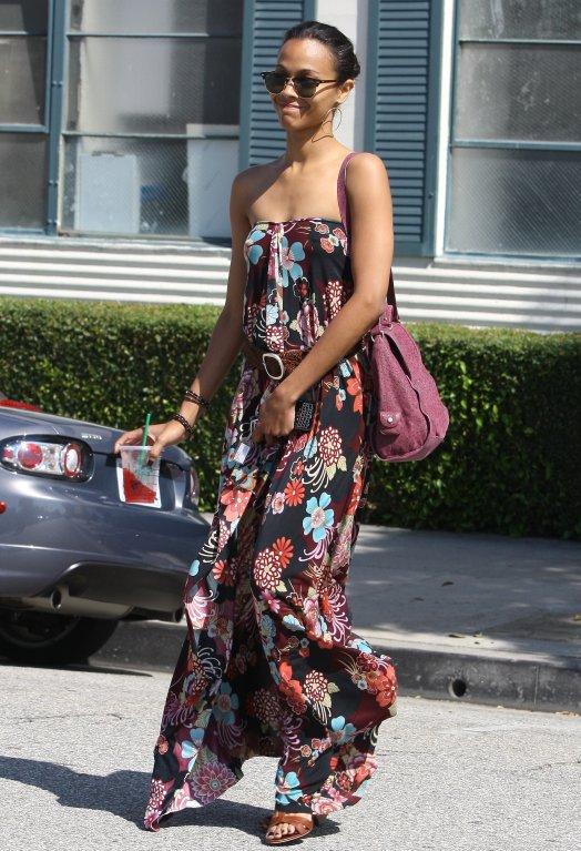 Zoe Saldana Maternity Style Loveweddingsng1