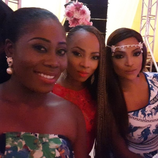 Dr Sid Simi Osomo White Wedding Loveweddingsng - Gbemi Olateru-Olagbegi, Toke Makinwa and  Freda Francis