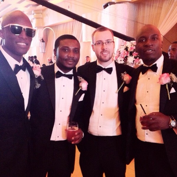 Dr Sid Simi Osomo White Wedding Loveweddingsng - Groomsmen