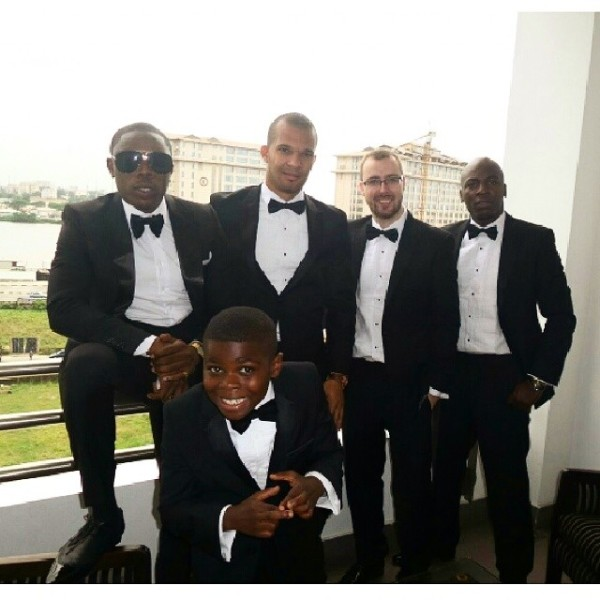 Dr Sid Simi Osomo White Wedding Loveweddingsng - Groomsmen1