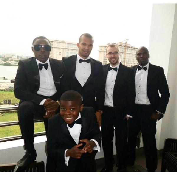 Dr Sid Simi Osomo White Wedding Loveweddingsng - Groomsmen1