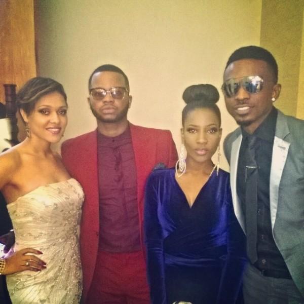 Dr Sid Simi Osomo White Wedding Loveweddingsng - Tania Omotayo, Papa Omisore, Femi Ahmed, Tolu
