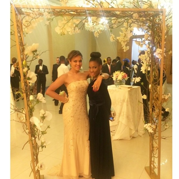 Dr Sid Simi Osomo White Wedding Loveweddingsng - Tania Omotayo and Femi Ahmed