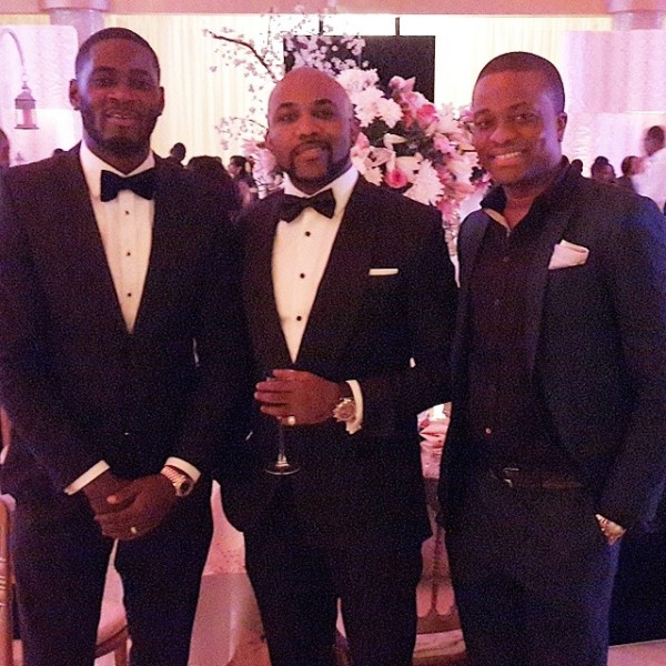 Dr Sid Simi Osomo White Wedding Loveweddingsng - Tee Billz, Banky W, Tunde Demuren