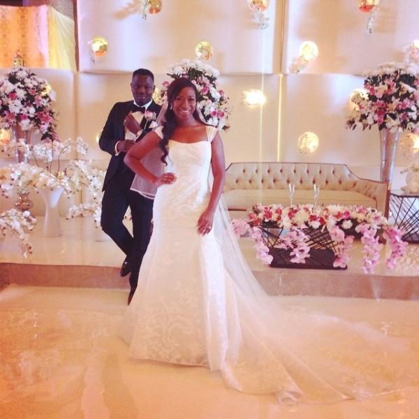 Dr Sid Simi Osomo White Wedding Loveweddingsng