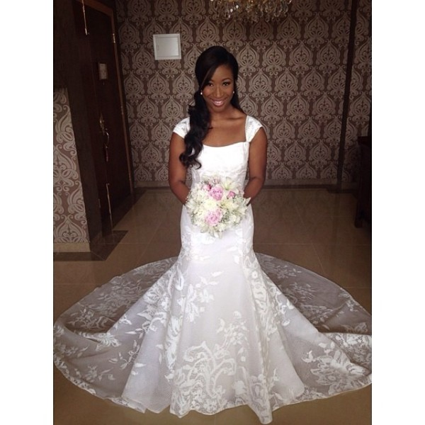 Dr Sid Simi Osomo White Wedding Loveweddingsng1