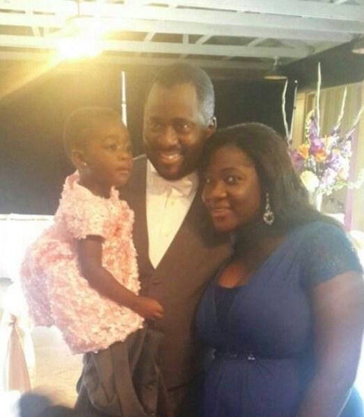 Robert Peters Wedding - Desmond Elliot, Mercy Johnson and daughter - Purity Okojie