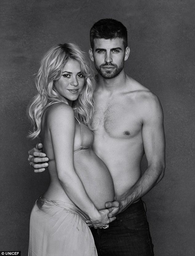 Shakira and Gerard Pique Baby Loveweddingsng3
