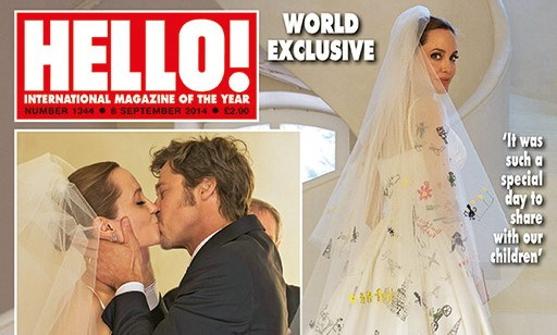 Pictures from Angelina Jolie & Brad Pitt's Wedding