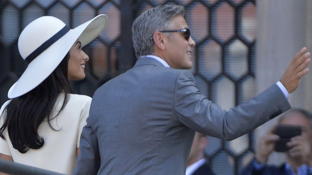 George Clooner and Amal Alamuddin Wedding Venice Loveweddingsng
