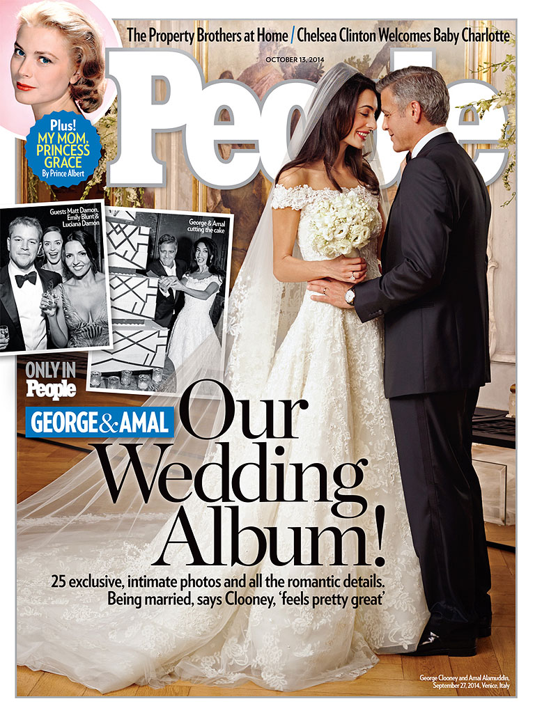 George Clooner and Amal Alamuddin Wedding Venice People Magazine Loveweddingsng