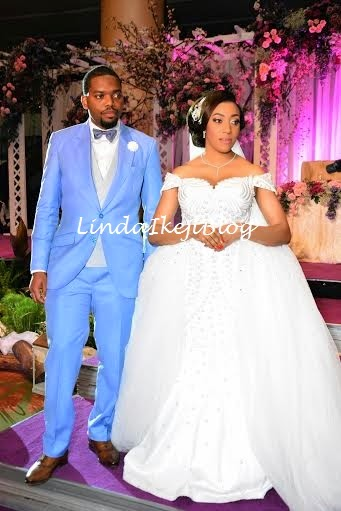 Koko Ita Giwa weds Chimaobi Loveweddingsng - White Wedding