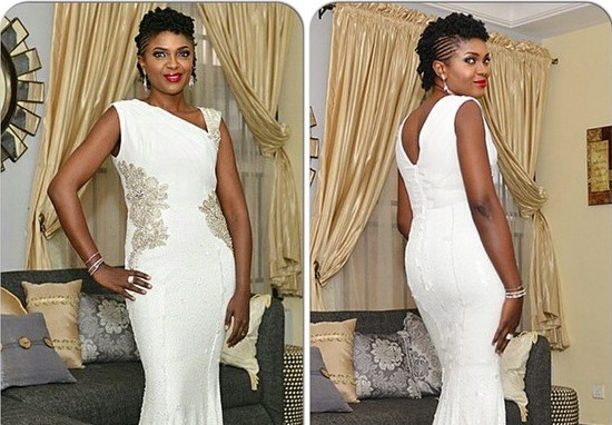 "Omoni Oboli's Look for the premiere of ""Being Mrs Elliot"" in Lagos"