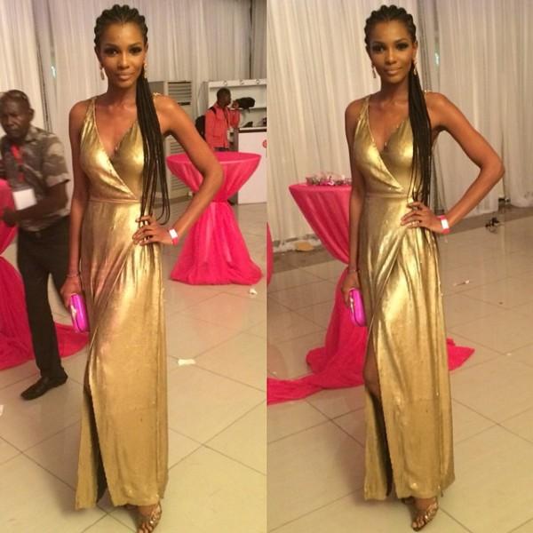 Genevieve Pink Ball 2014 - Agbani Darego