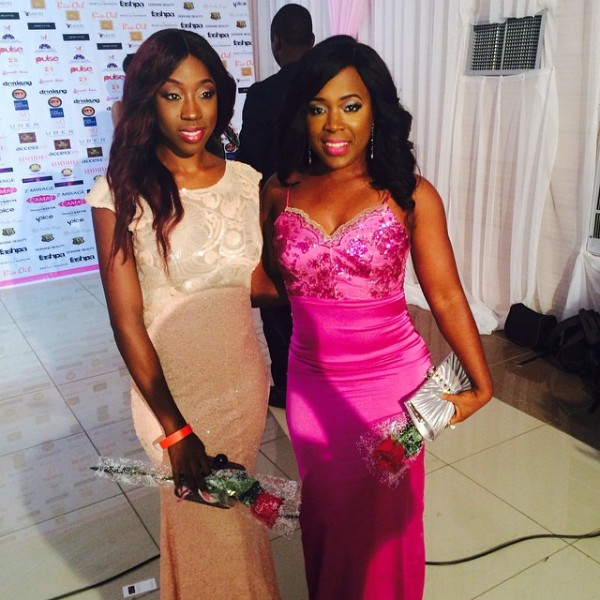 Genevieve Pink Ball 2014 - Beverly Naya and Moet Abebe