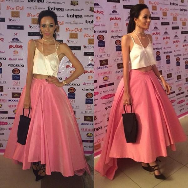 Genevieve Pink Ball 2014 - Eku Edewor