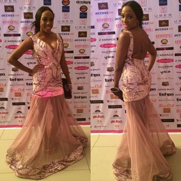 Genevieve Pink Ball 2014 - Fade Ogunro