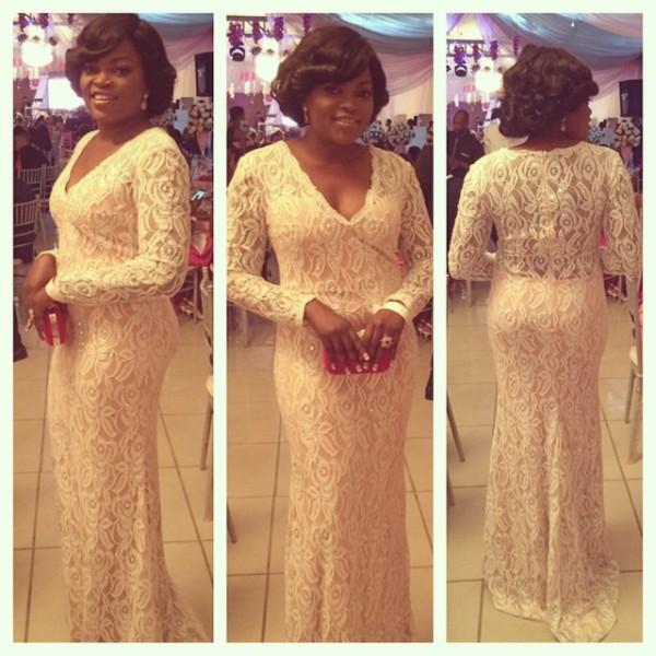 Genevieve Pink Ball 2014 - Funke Akindele