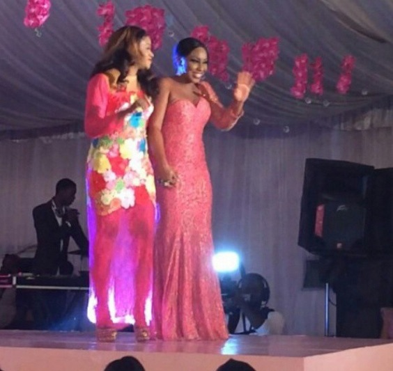 Genevieve Pink Ball 2014 - Lanre Da Silva with Rita Dominic