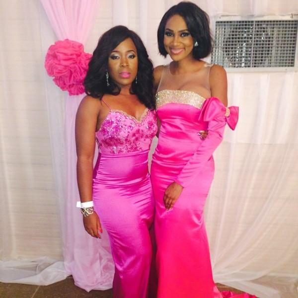 Genevieve Pink Ball 2014 - Moet Abebe and Jumai Shaba