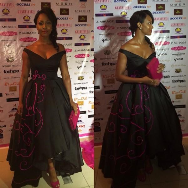 Genevieve Pink Ball 2014 - Osas Ighodaro