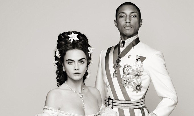 #Recincarnation: Cara Delevingne & Pharrell Williams wed for Chanel