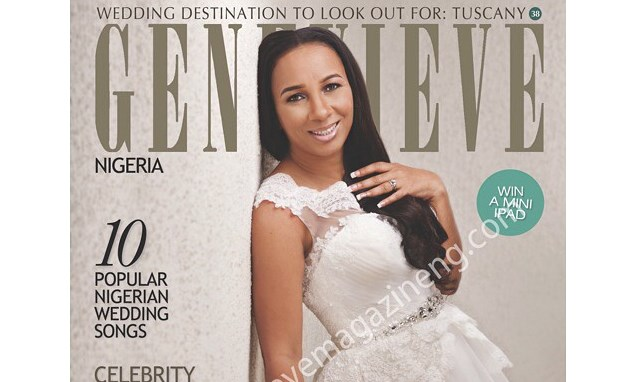 Bride-to-be Ibinabo Fiberesima covers Genevieve Magazine's December 2014 Issue