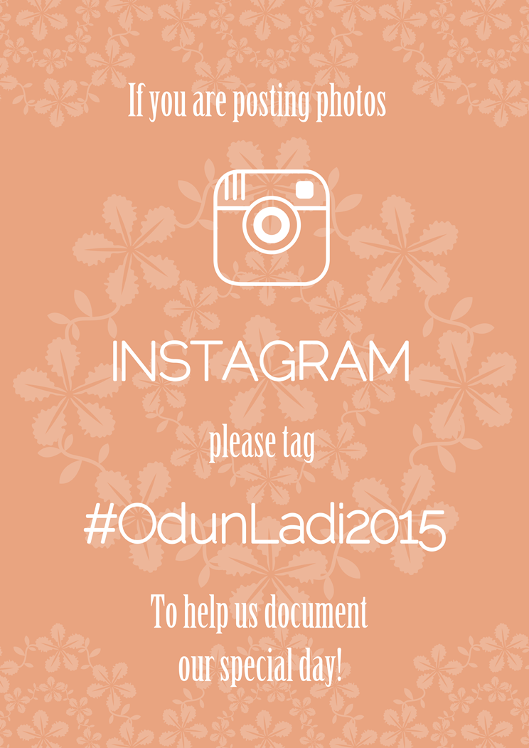 Loveweddingsng Wedding Hashtag Wall OdunLadi2015