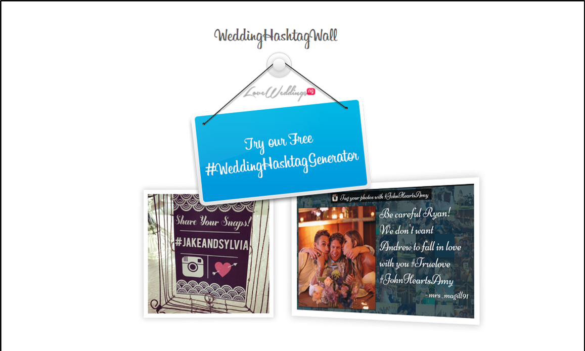 Loveweddingsng Wedding Hashtag Wall feat