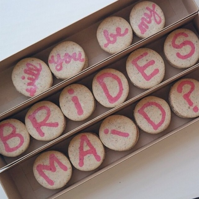 Milkstache cookies Bridesmaids