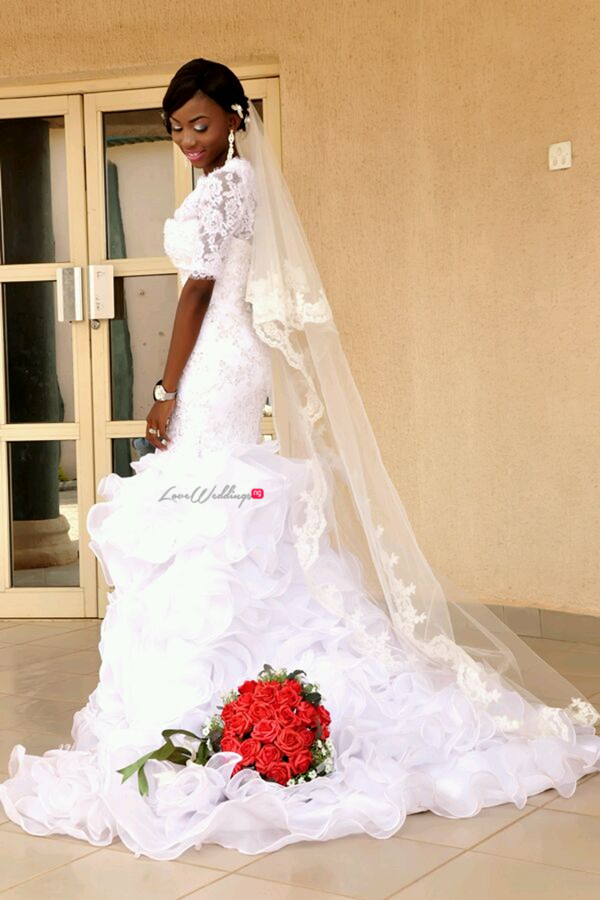 LoveweddingsNG White Wedding Ade and Bunmi