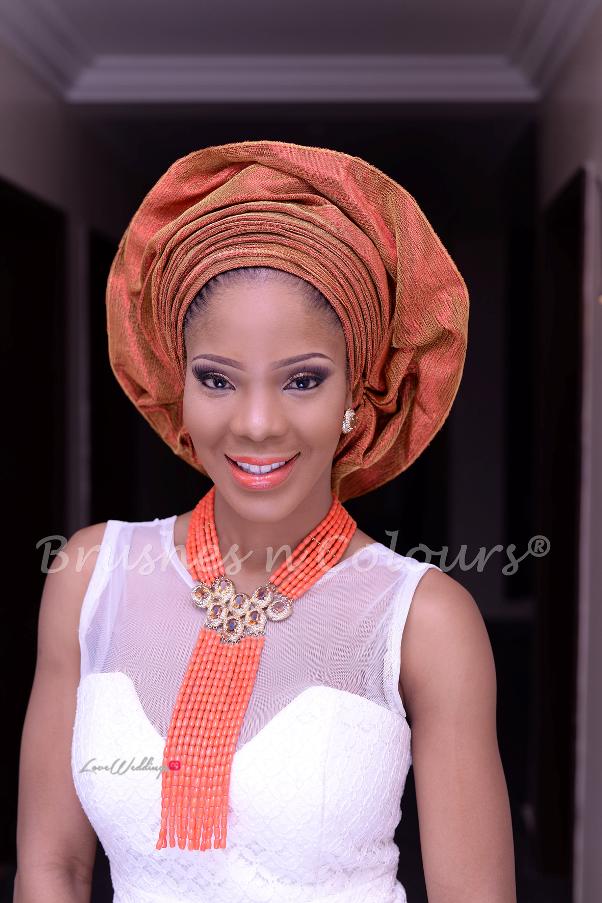 Nigerian Traditional Bride Brushes n Colors LoveweddingsNG12