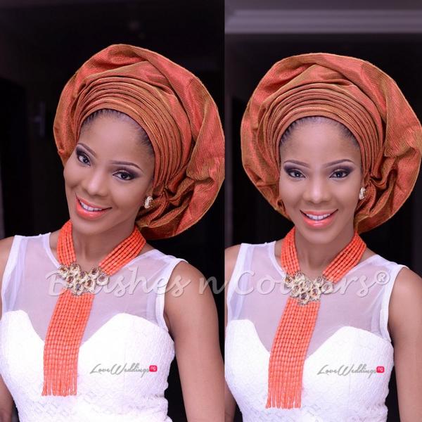 Nigerian Traditional Bride Brushes n Colors LoveweddingsNG14