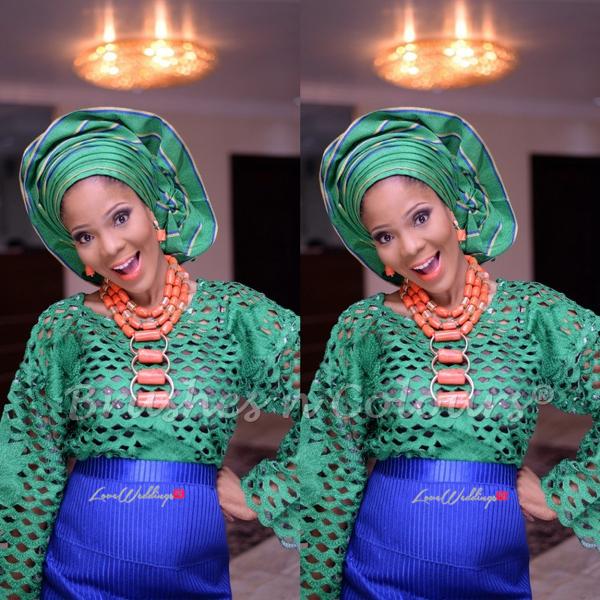 Nigerian Traditional Bride Brushes n Colors LoveweddingsNG15