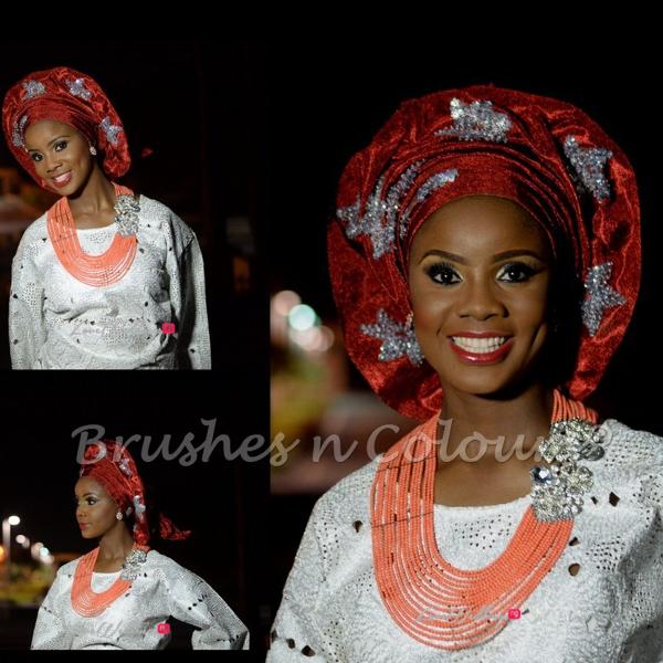 Nigerian Traditional Bride Brushes n Colors LoveweddingsNG26