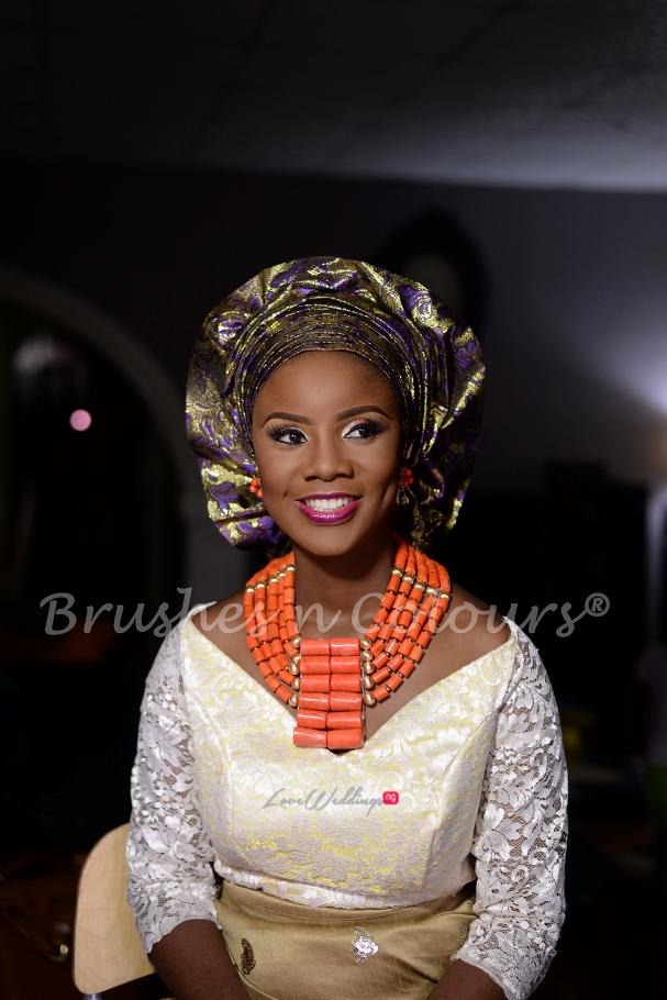 Nigerian Traditional Bride Brushes n Colors LoveweddingsNG27