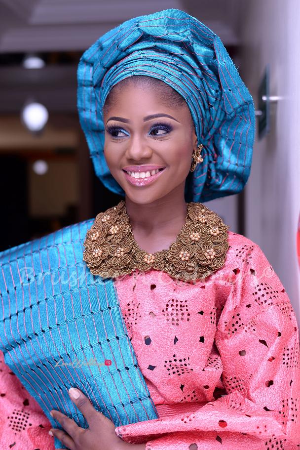 Nigerian Traditional Bride Brushes n Colors LoveweddingsNG3