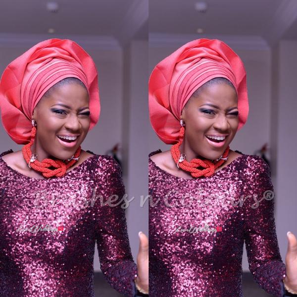 Nigerian Traditional Bride Brushes n Colors LoveweddingsNG6