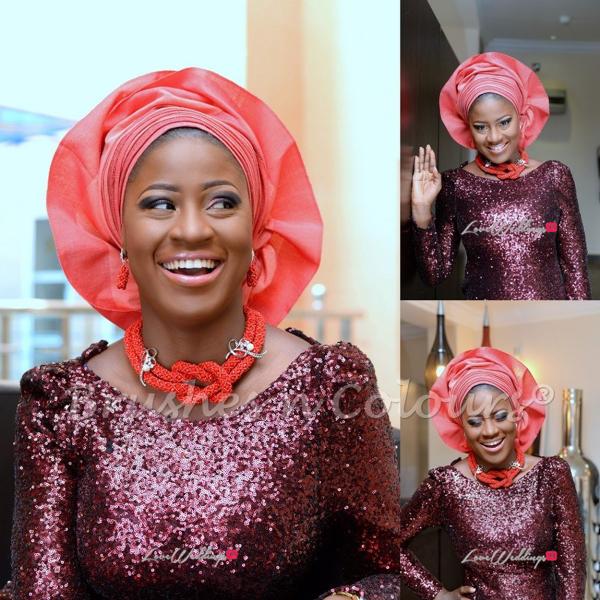 Nigerian Traditional Bride Brushes n Colors LoveweddingsNG7