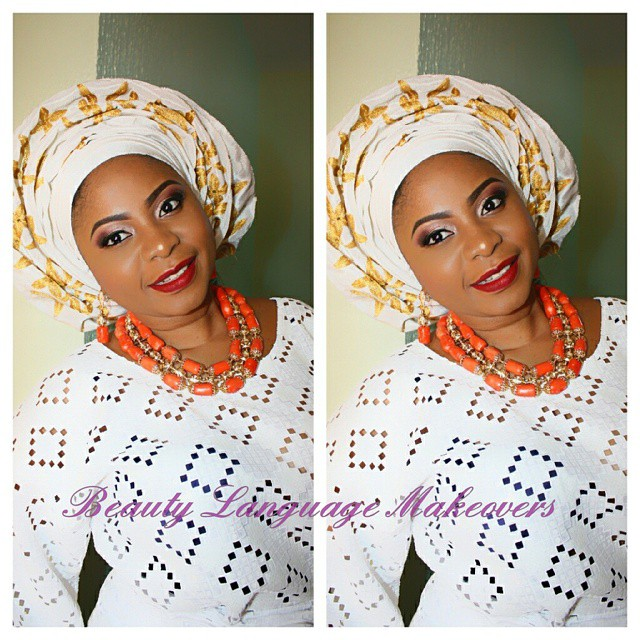 Nigerian Traditional Wedding Makeup - Beauty language makeover LoveweddingsNG
