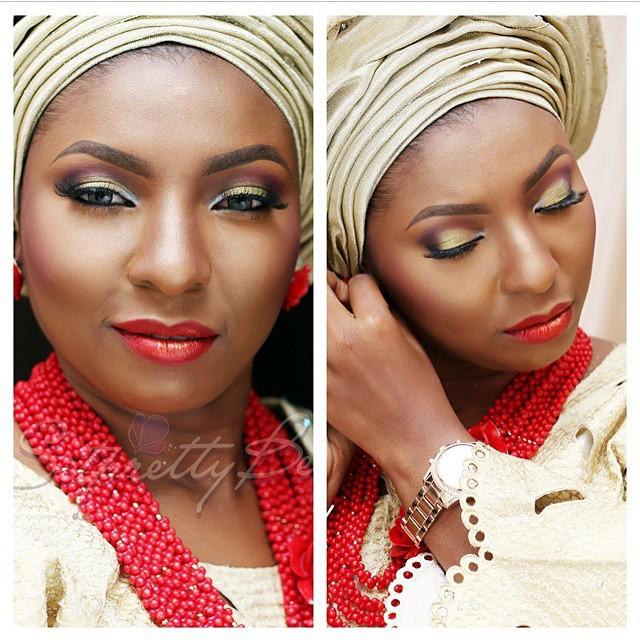 Nigerian Traditional Wedding Makeup - Sitpretty makeup Maverick LoveweddingsNG