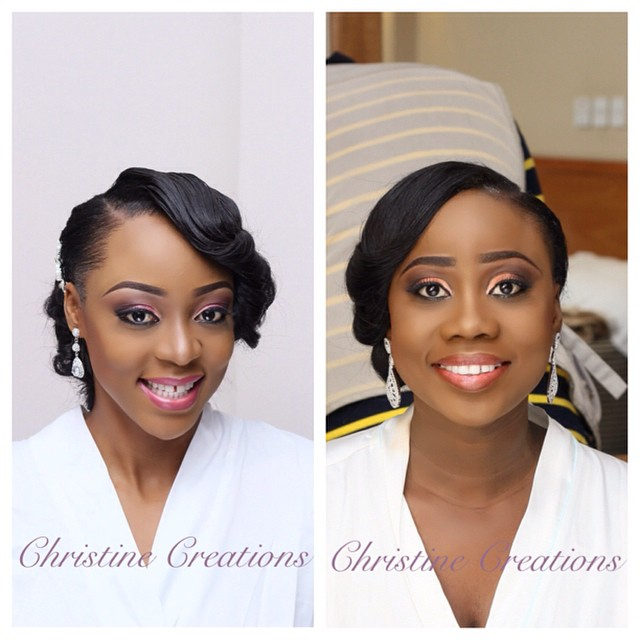 Nigerian White Wedding Makeup - Christine Creations LoveweddingsNG1