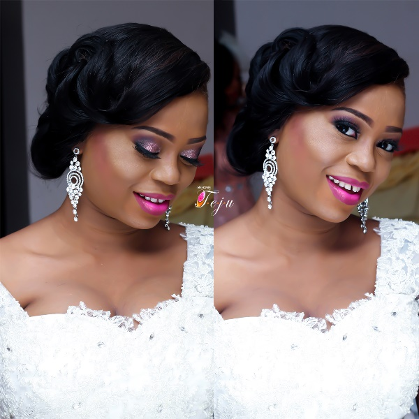 Nigerian White Wedding Makeup - Makeover by Teju LoveweddingsNG