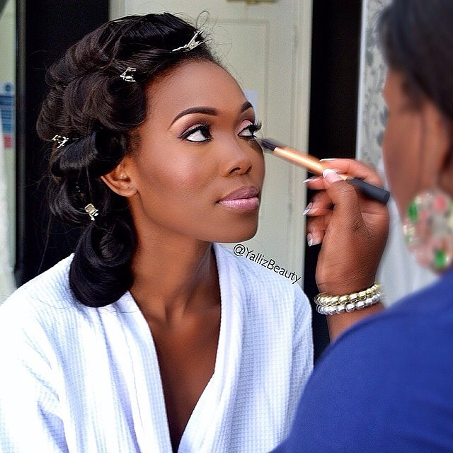 Nigerian White Wedding Makeup - Yalliz Beauty LoveweddingsNG