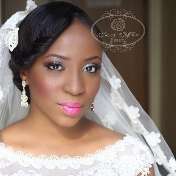 Nigerian White Wedding Makeup - dAINTY AFFAIRS LoveweddingsNG